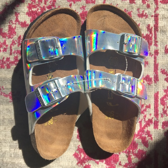 Birkenstock Arizona Kids Hologram Girl Sandal silver
